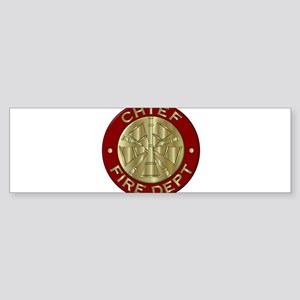 Fire chief brass sybol Bumper Sticker